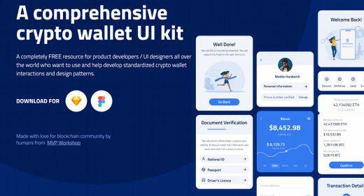 Free Figma crypto wallet UI kit