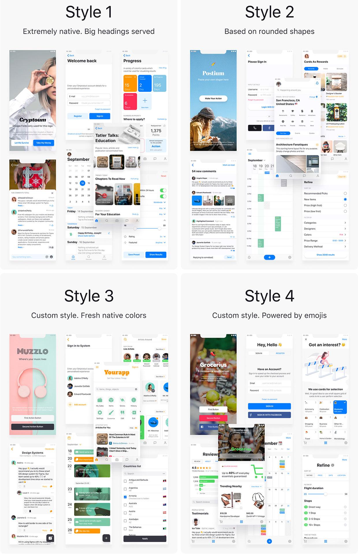 iOS 13 Figma Templates