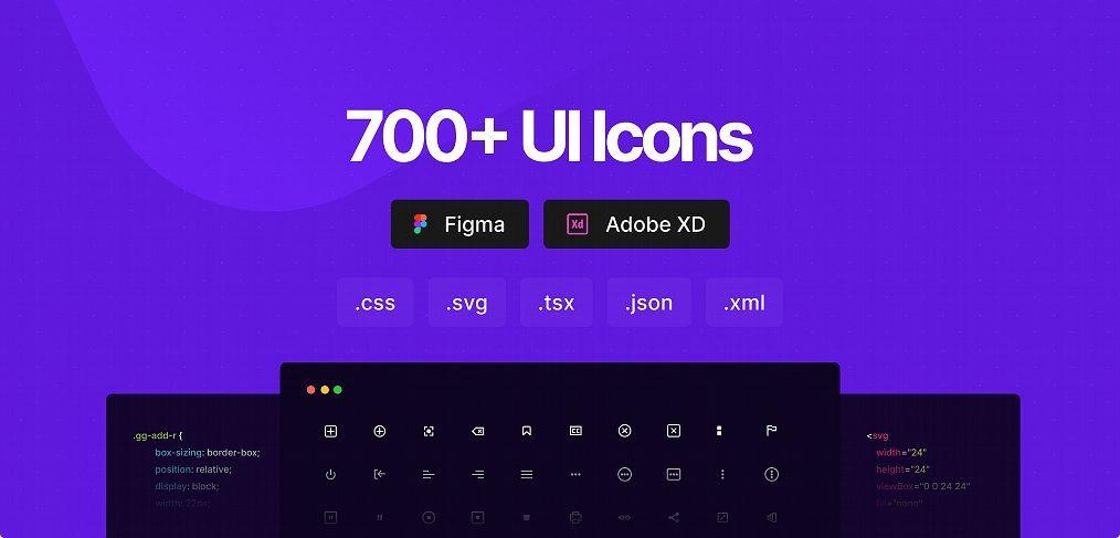 Css.gg 700 free Figma icons