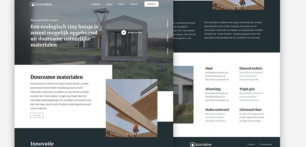 EcoCabins Figma landing page template