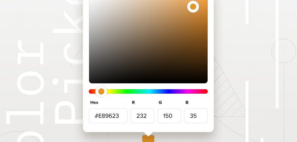 Figma color picker UI freebie