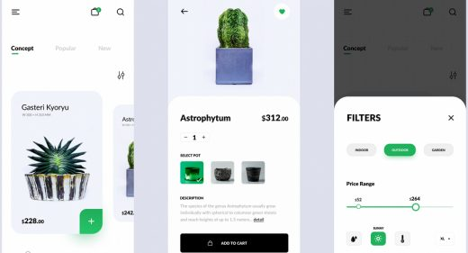 Figma plant shop app template