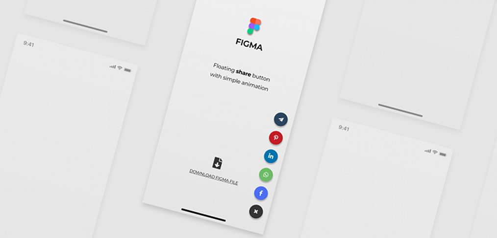 Floating Figma share button