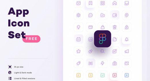 Free Figma app icon set