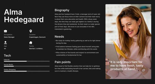 Free Figma UX persona template