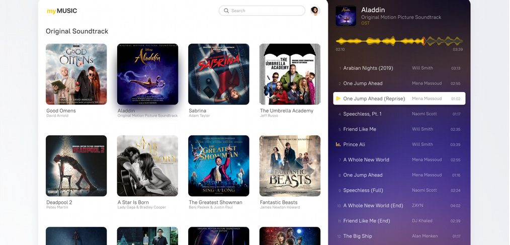 myMusic Figma music player template