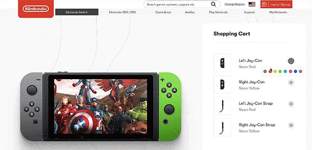 Nintendo Switch order Figma template