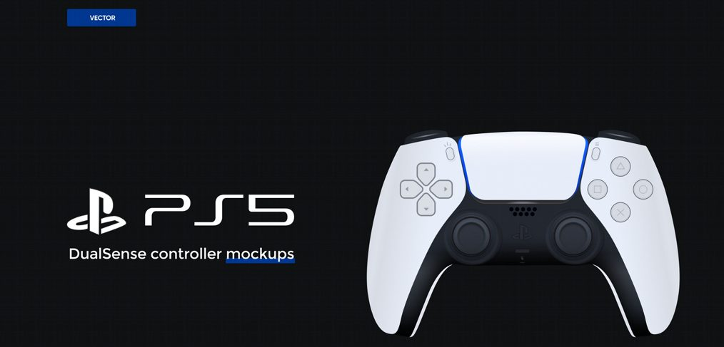 PS5 controller Figma mockup illustration