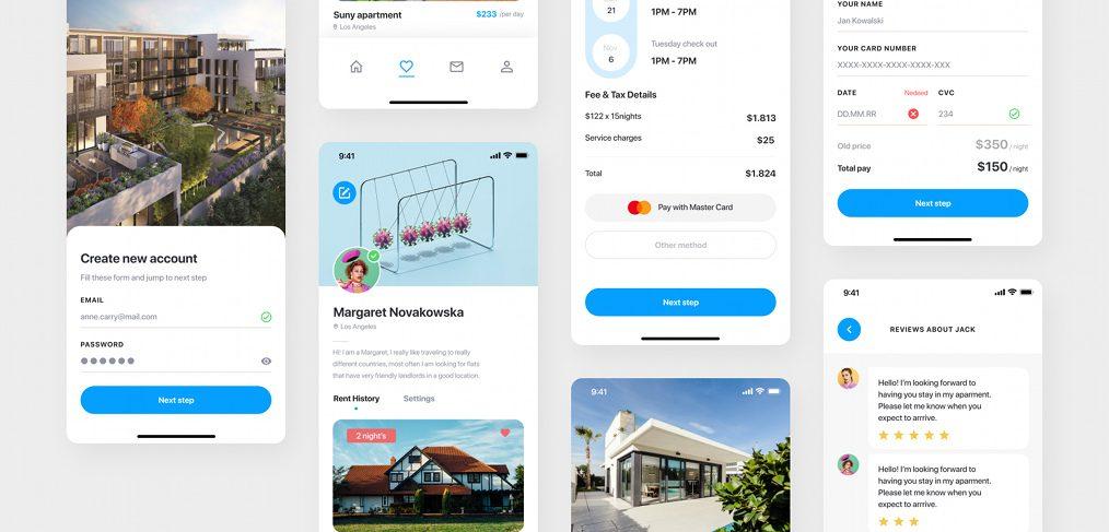 Real estate free Figma UI kit