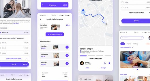 Salon app concept for Figma