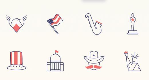 USA Figma free icon set