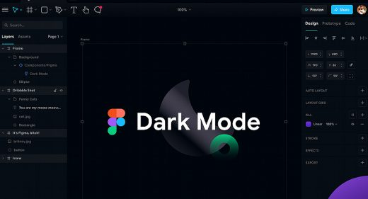 Figma dark mode exploration