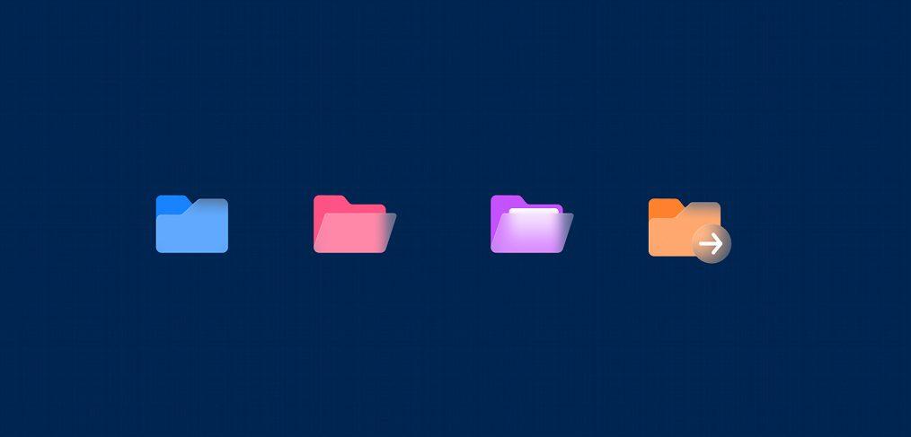Figma free glassy folder icon