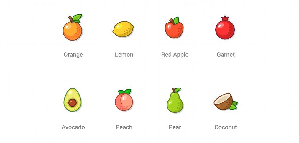 Free Figma fruit icons