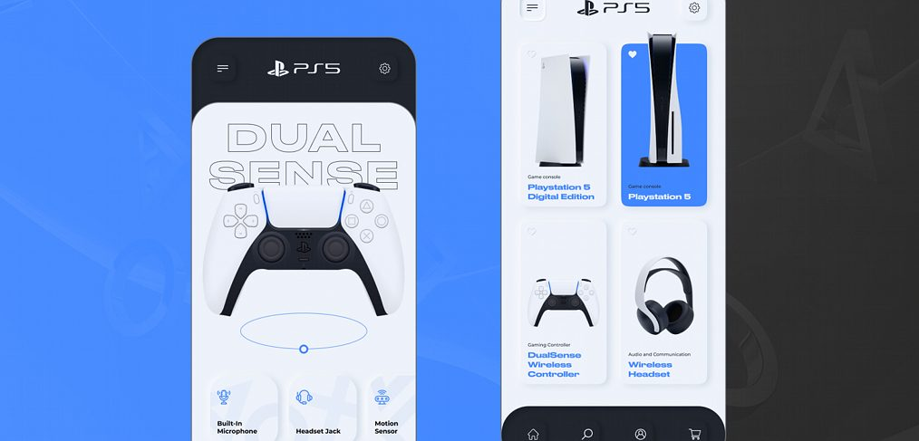 Playstation 5 Store Figma concept