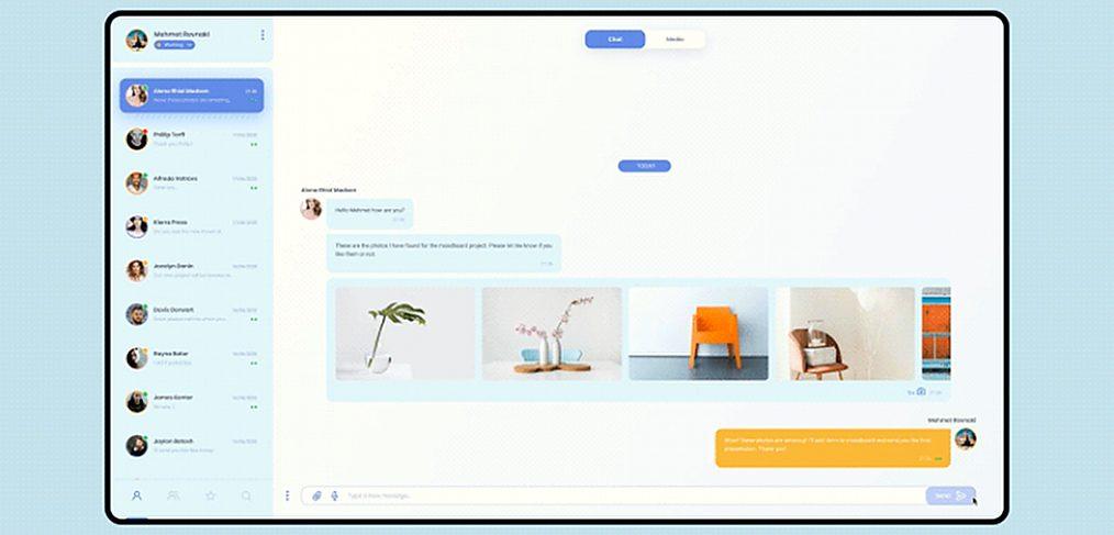 Desktop Chat app Figma UI screen