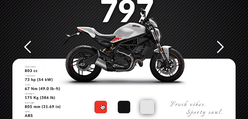 Ducati bike store Figma design