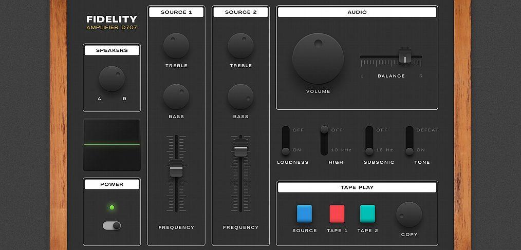 Figma audio controller illustration