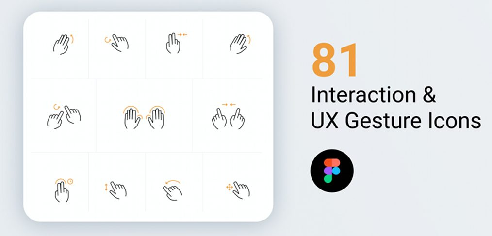Interaction and Gesture Figma Icons