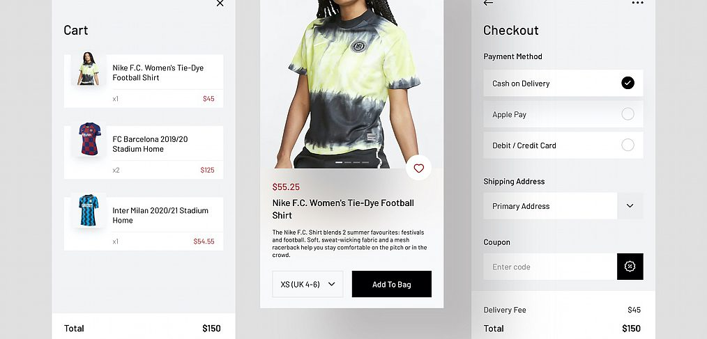 Jersey shop Figma mobile app