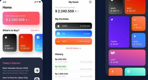 Stocks trading Figma app template
