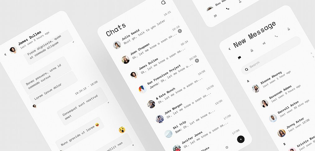 Telegram redesign Figma freebie