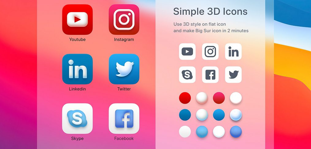 Big Sur icons styling with Figma