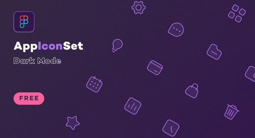 Dark mode free Figma icon set