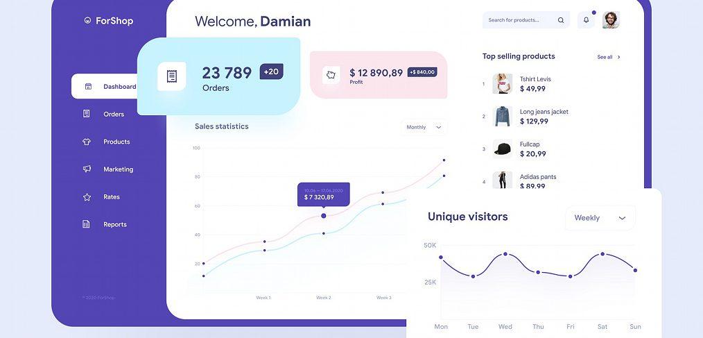 Figma ecommerce dashboard template
