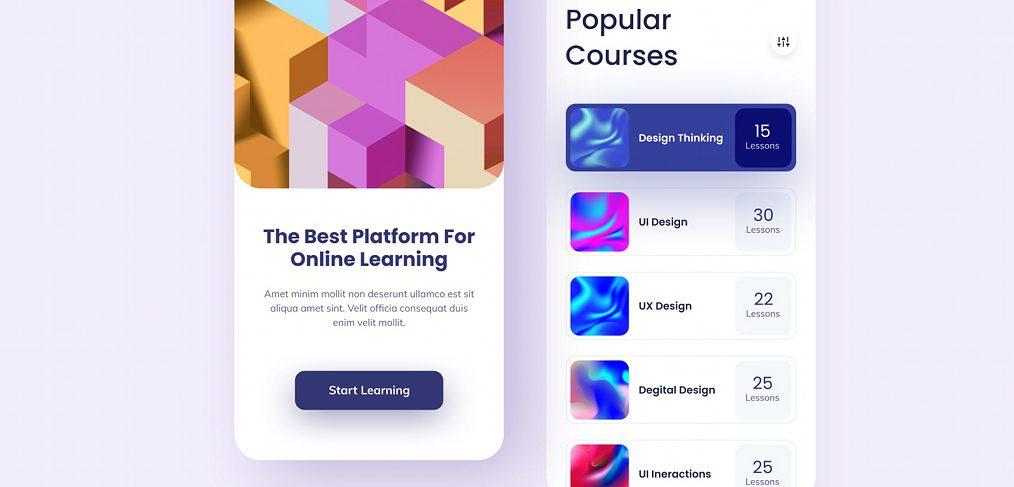 Online learning Figma app template