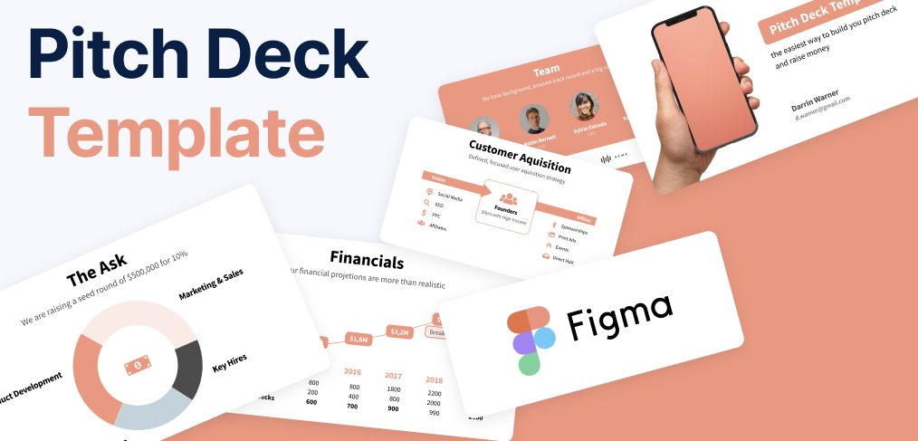 Pitch deck template for Figma