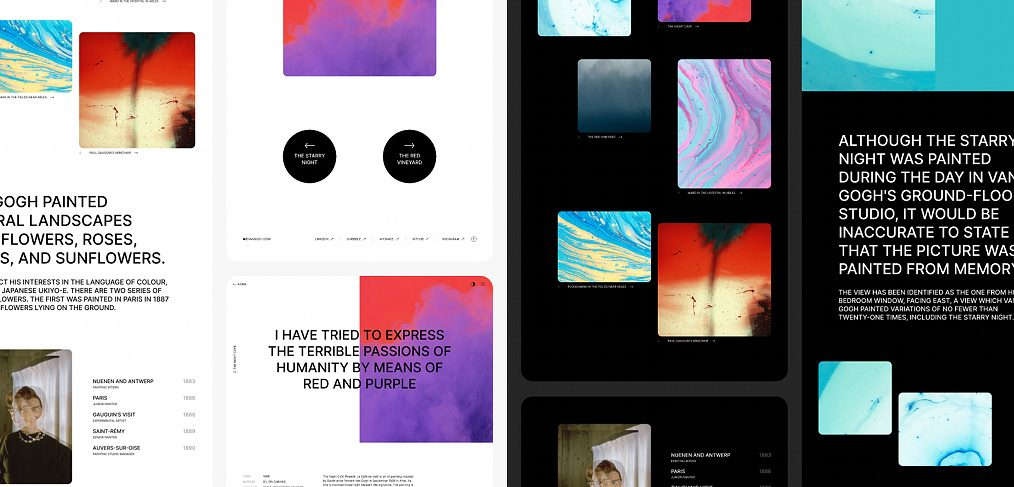 Visual portfolio Figma template