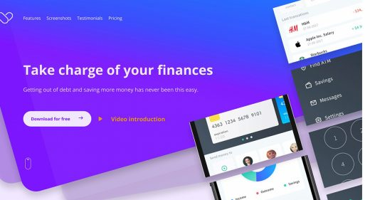 Figma finance landing page template