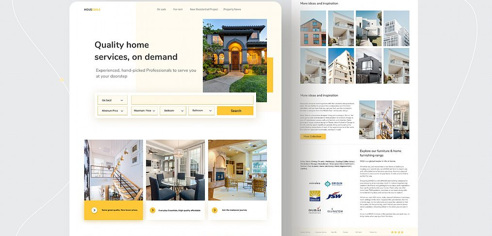 Figma real estate landing page