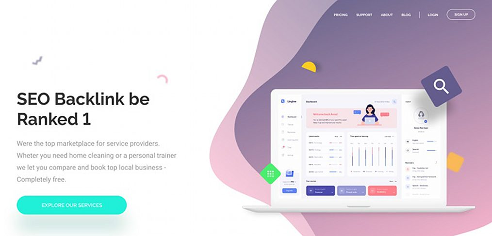 SEO landing page template in Figma