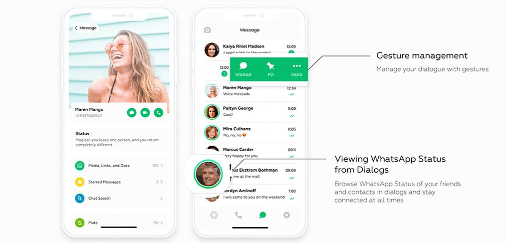 Whatsapp Figma redesign