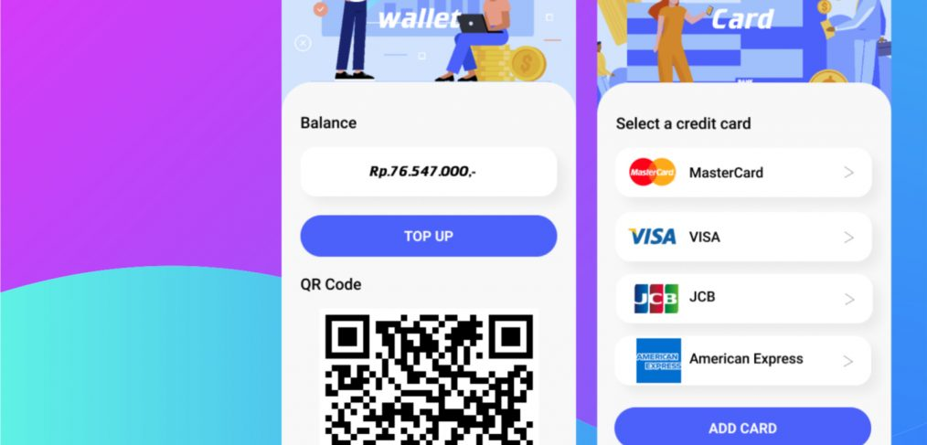 Figma digital wallet mobile concept