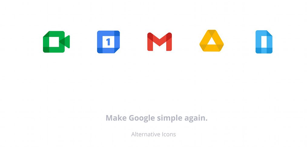 Google icons recoloured in Figma
