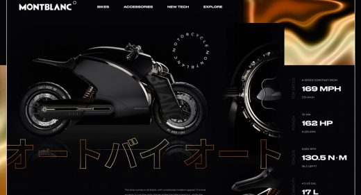 Motorcycle website template for Figma