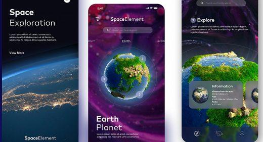 Space mobile app concept