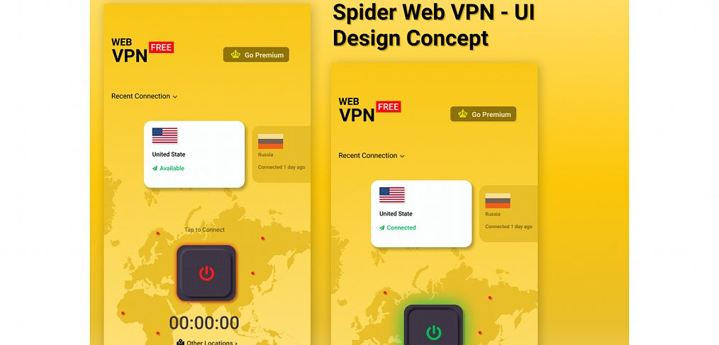 Spider web VPN mobile concept