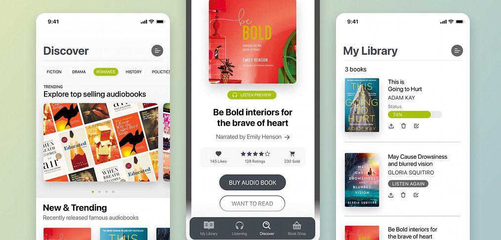 Audiobook Figma mobile template