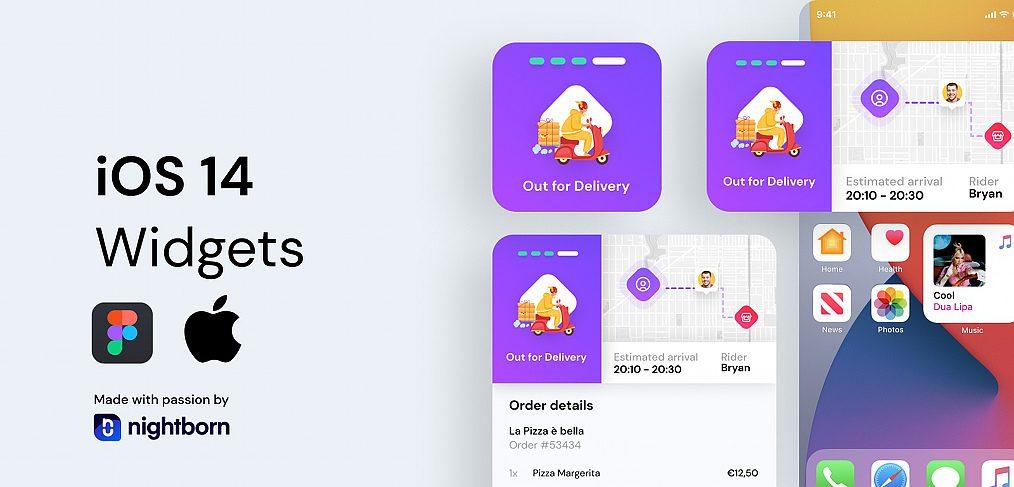 Figma iOS 14 delivery widget