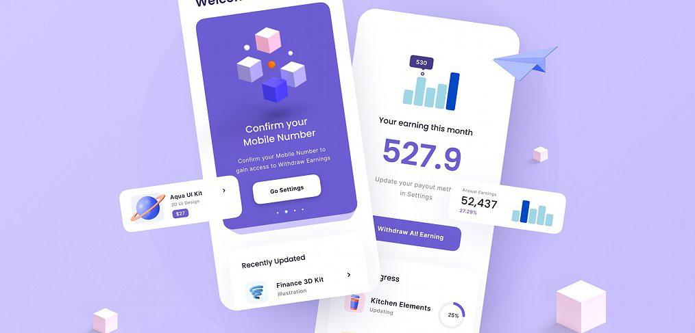 Finance app Figma concept