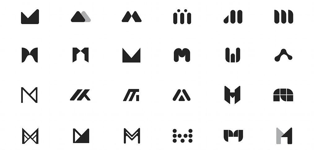 Logo drafts ideas made in Figma