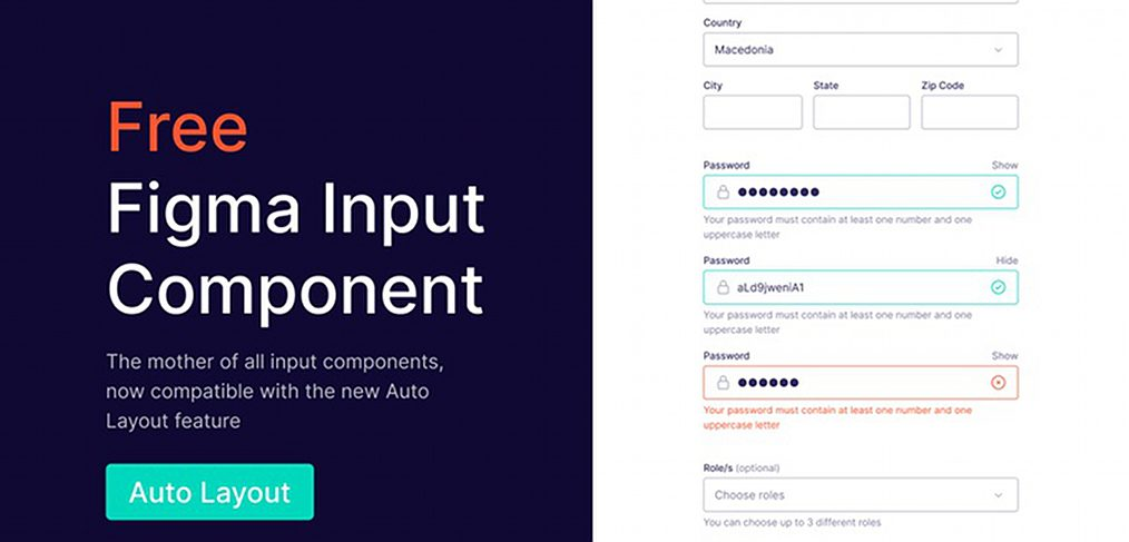 Figma input field components