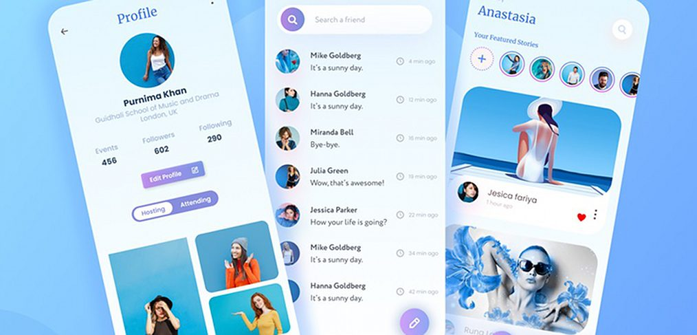 Snapchat app Figma redesign