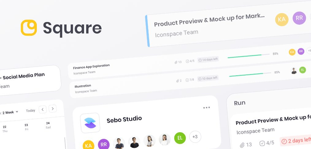 Square - Figma Premium Dashboard UI Kit