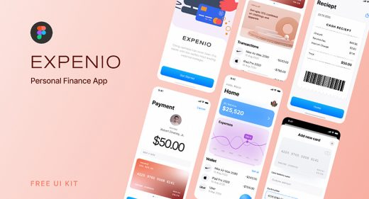 Expenio - Free Figma finance UI kit