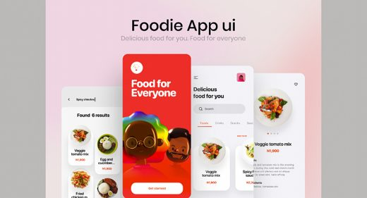 Figma food delivery app UI kit